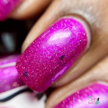 Nailed It Nail Polish - Berry Angelic - macro