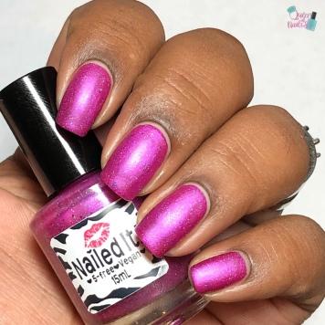 Nailed It Nail Polish - Berry Angelic - w/ matte tc