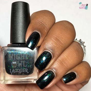 Night Owl Lacquer - Monster is a Relative Term - w/ glossy tc