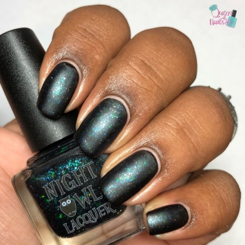 Night Owl Lacquer - Monster is a Relative Term - w/ matte tc