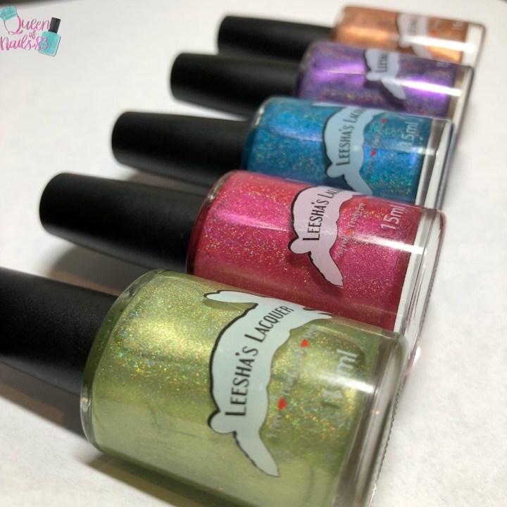 Moore Swatches: Leesha's Lacquer – Beachy Keen Holo Collection