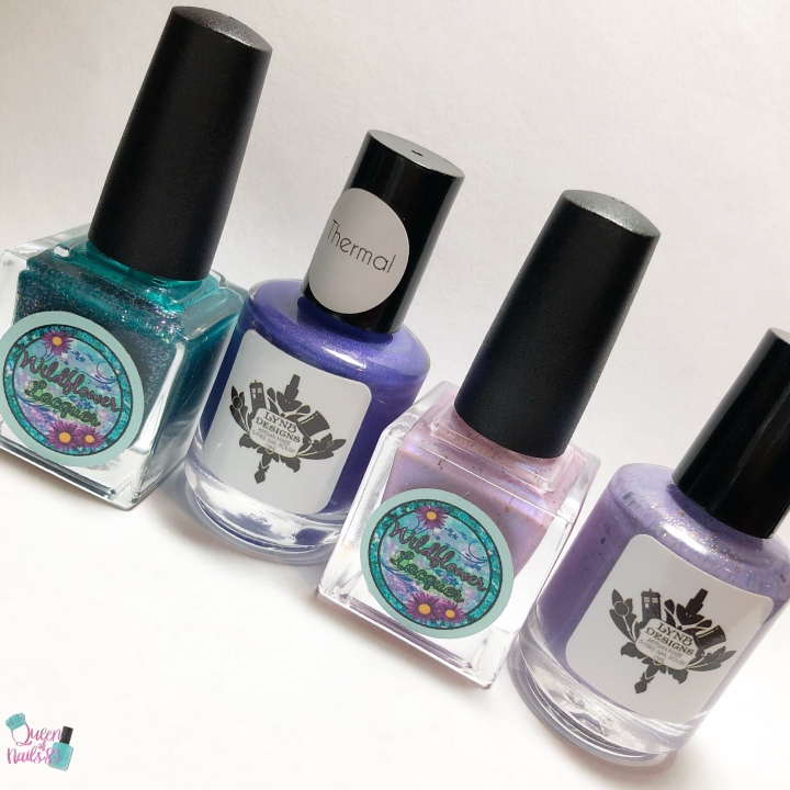 Moore Swatches: LynB Designs – Beavis and Butthead Quad with Wildflower Lacquers and AugustPOTM