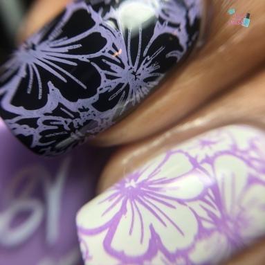 Lilac Stamping Sauce - macro