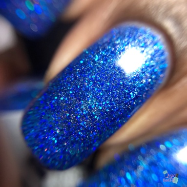 Saturated Sapphire - macro