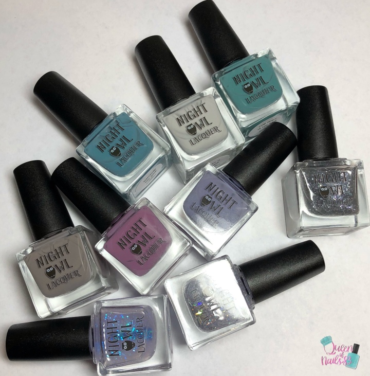 Moore Swatches: Night Owl Lacquer – Pluviophile Collection and September Crème of the Month