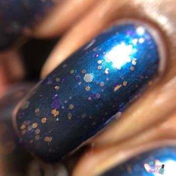 Sassy Pants Polish - Moonlit Stargazers - macro