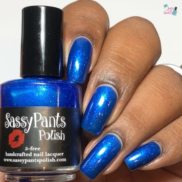 Sassy Pants Polish - Nothing Compares to Blue (LE) - w/ glossy tc