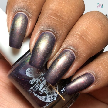 Anchor & Heart Lacquer - Dark Lady of DNA - w/ matte tc