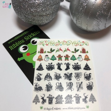 Day 12 - Kristy, Ribbits Stickits: 12 Drummers Drumming