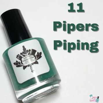 Day 11 - Jennalyn, LynB Designs: 11 Pipers Piping