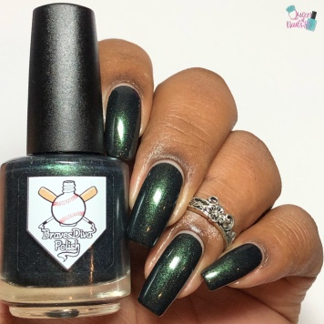 Day 3 - Tara, Braves Diva Polish: 3 French Hens - w/ glossy tc