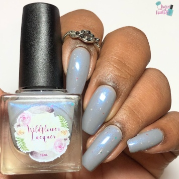 Day 2 - Taylor, Wildflower Lacquer: 2 Turtle Doves - w/ glossy tc