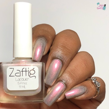 Day 7 - Janice, Zaftig Lacquer: 7 Swans a Swimming - w/ glossy tc