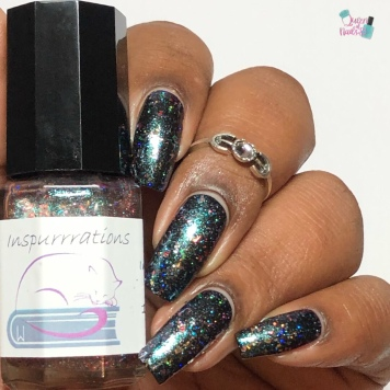 Day 9 - Lisette, Inspurrration Nail Polish: 9 Ladies Dancing - w/ glossy tc