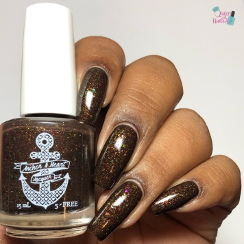 Anchor & Heart Lacquer - Snow's Sanctuary - w/ glossy tc