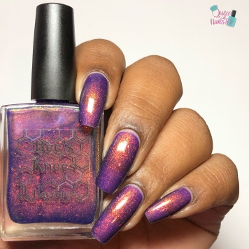 Bee's Knees Lacquer - I'll Met By Moonlight - w/ glossy tc