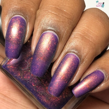 Bee's Knees Lacquer - I'll Met By Moonlight - w/ matte tc