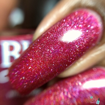 Blush Lacquers - Little Maroon Riding Hood - macro