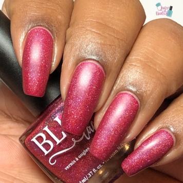 Blush Lacquers - Little Maroon Riding Hood - w/ matte tc