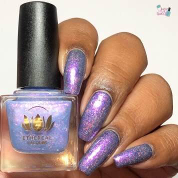 Ethereal Lacquer - Spellfrost (over black) - w/ glossy tc
