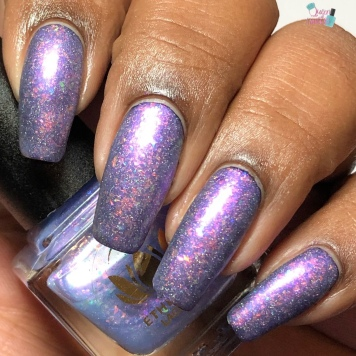Ethereal Lacquer - Spellfrost (over black) w/ matte tc