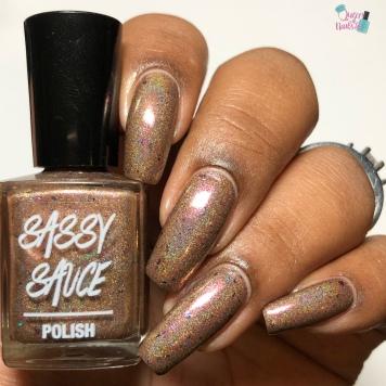 Sassy Sauce Polish - Lucky Papa Legba Offering - w/ glossy tc