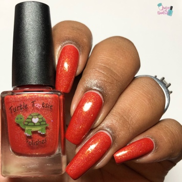 Turtle Tootsie Polish - Crazy Crawfish - w/ glossy tc
