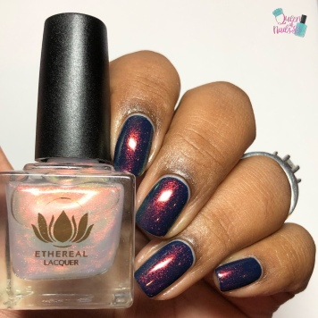 Bauble (over navy blue crème) - w/ glossy tc