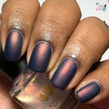 Bauble (over navy blue crème) - w/ matte tc