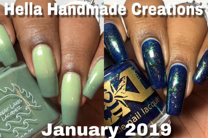 Moore Swatches: January 2019 HHC – Great Lakes Lacquer and Bee's Knees Lacquer