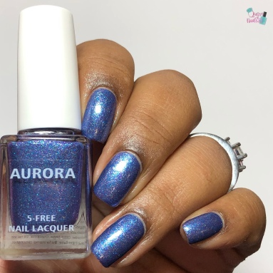Aurora Nail Lacquer - Are You Peacocking - w/ glossy tc