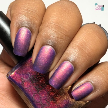 Bee's Knees Lacquer - Play Something Axeman - w/ matte tc