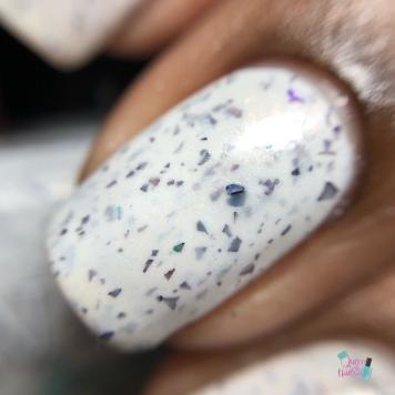 Nail Hoot Lacquer - A Masked Affair - macro