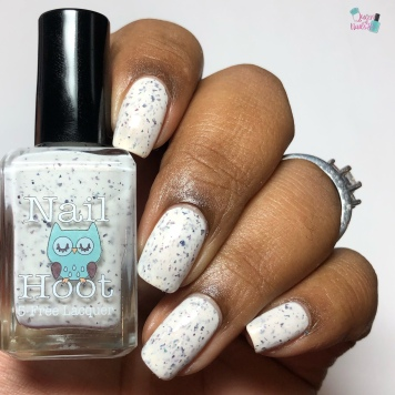 Nail Hoot Lacquer - A Masked Affair - w/ glossy tc