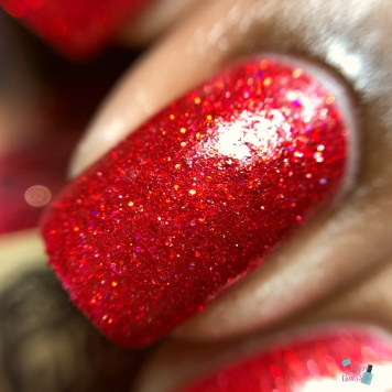 Poetry Cowgirl Polish - Ruby Slipper - macro