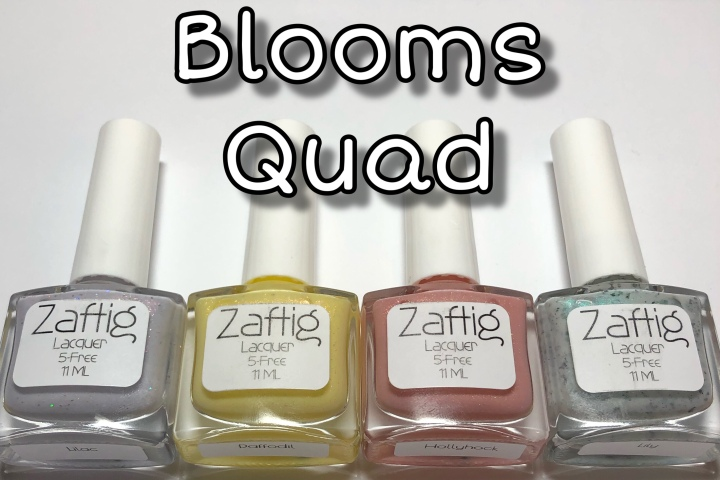 Moore Swatches: Zaftig Lacquer – Blooms Quad