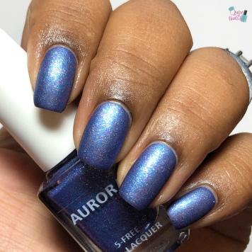 Aurora Nail Lacquer - Are You Peacocking - w/ matte tc