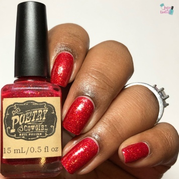 Poetry Cowgirl Polish - Ruby Slipper - w/ glossy tc